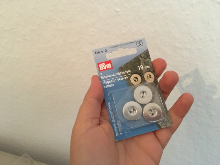 Magnet Annähknöpfe für Kindertasche