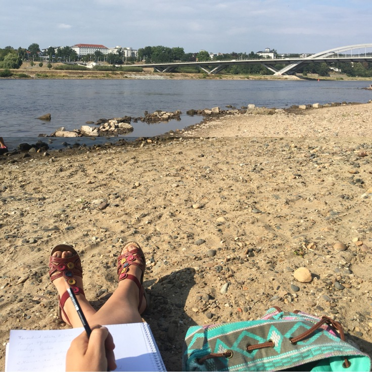 Elbe Dresden Sommer