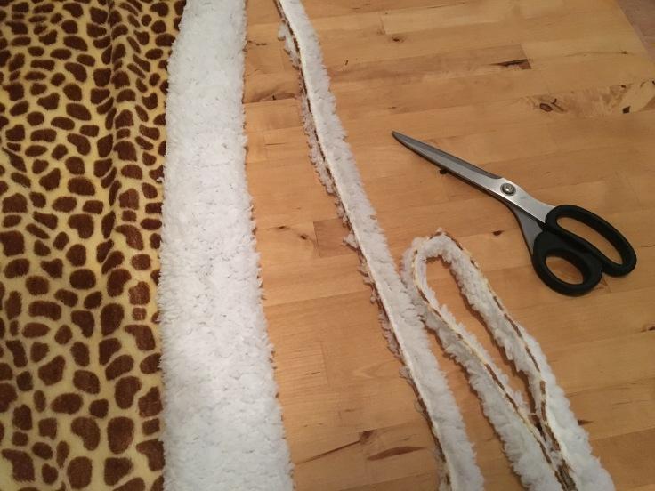 Giraffen Decke auseinander schneiden