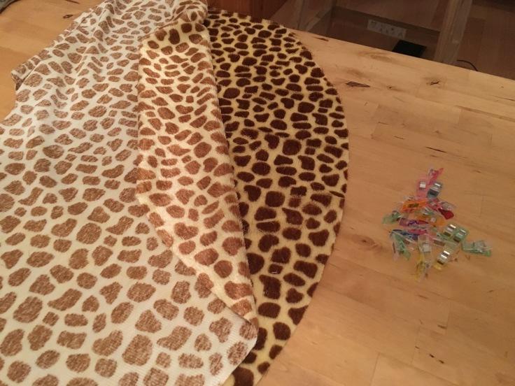 Rock Antheia als Giraffenkostüm