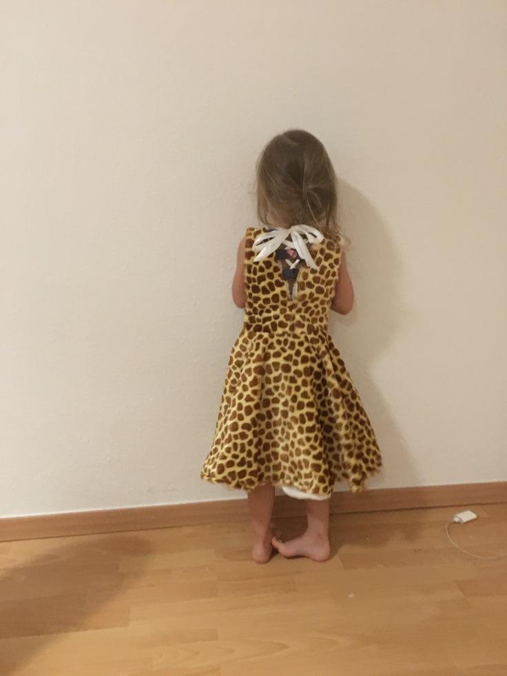 Kinderkostüm Giraffe hinten