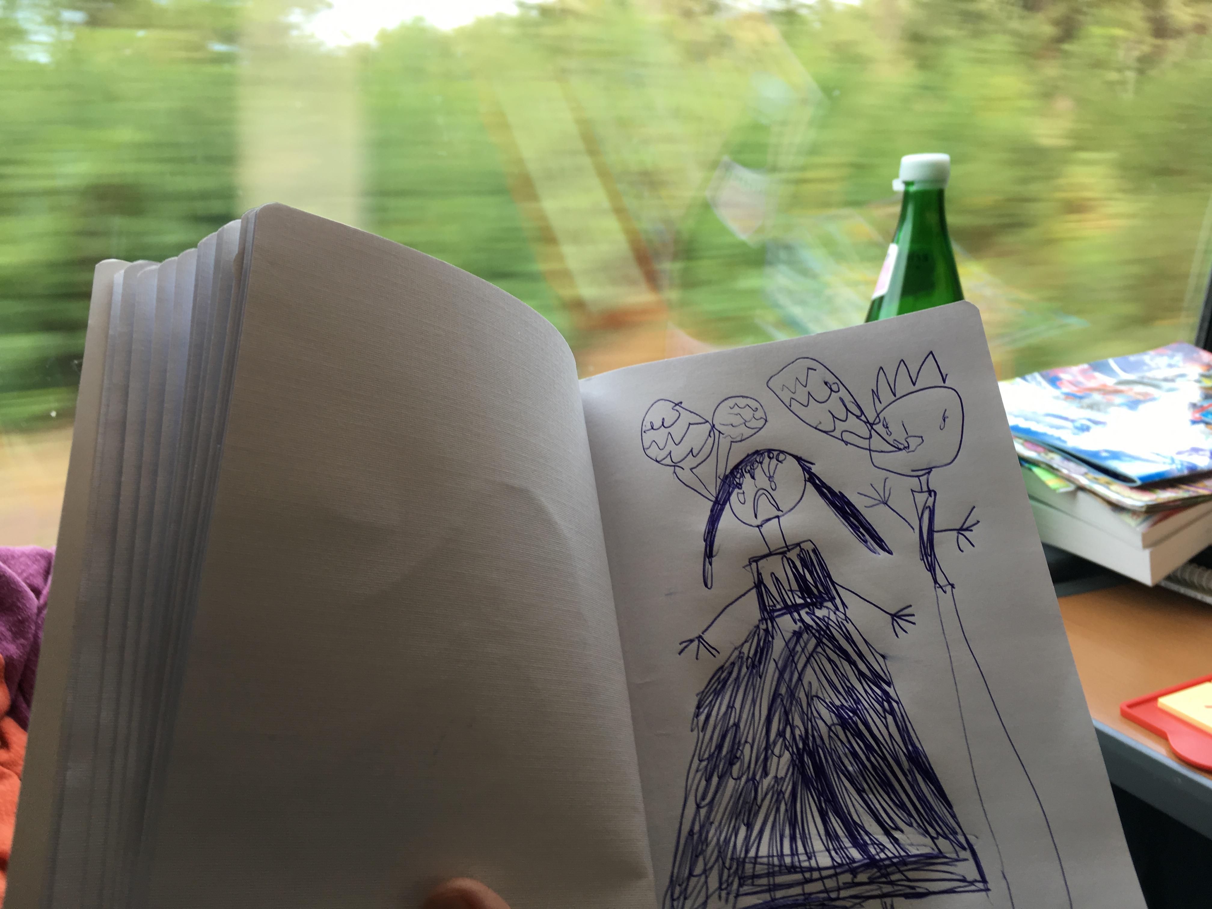 Kinderbild im Zug