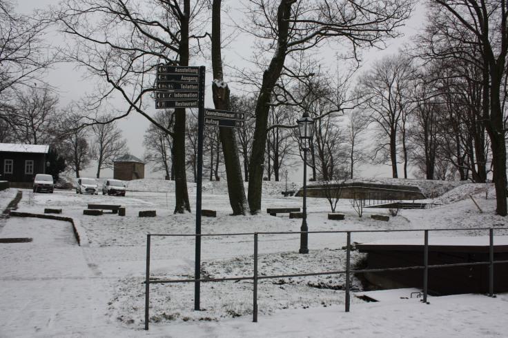 Schnee Festung Königstein