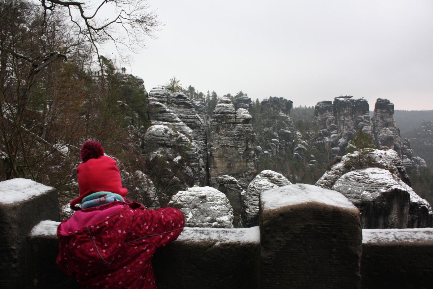 Basteifelsen im Winter