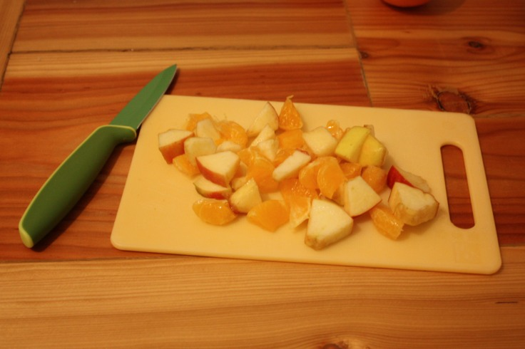 Obst geschnitten