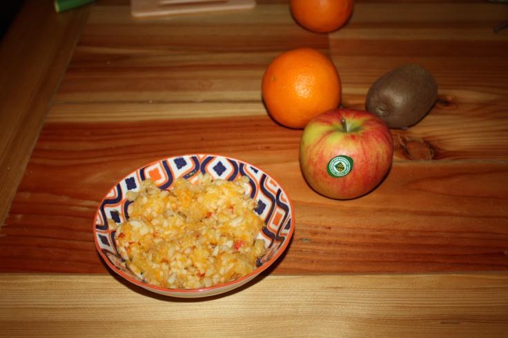 Obst gehäckselt