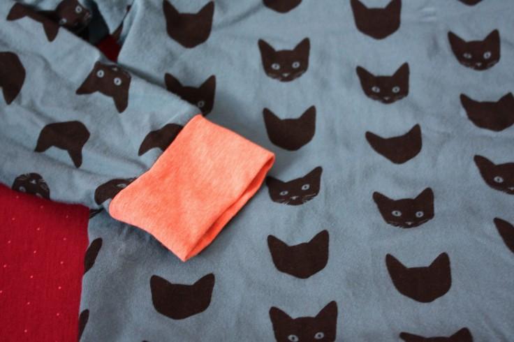 Katzenstoff T-Shirt für Kinder
