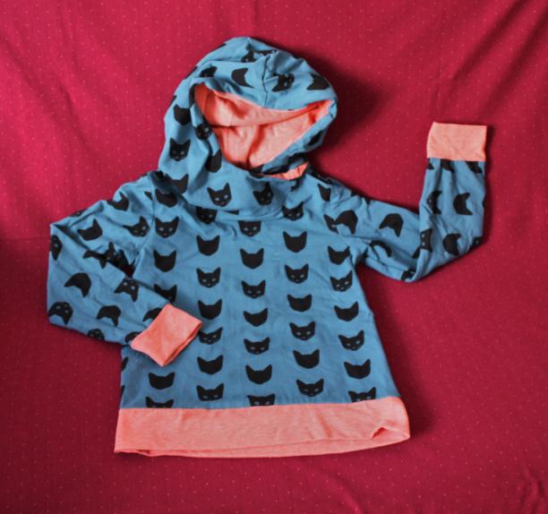 Kapuzenpulli für Kinder blau