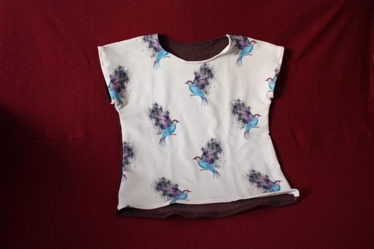 Kinder T-Shirt Vogelstoff