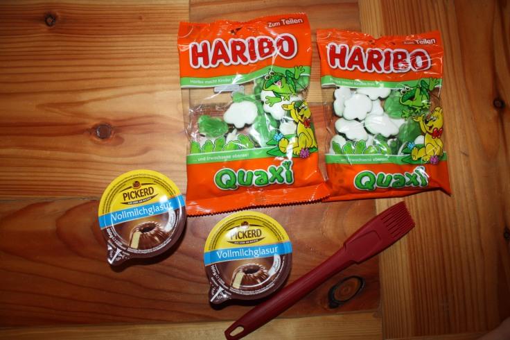 HARIBO Frösche und Schokolade