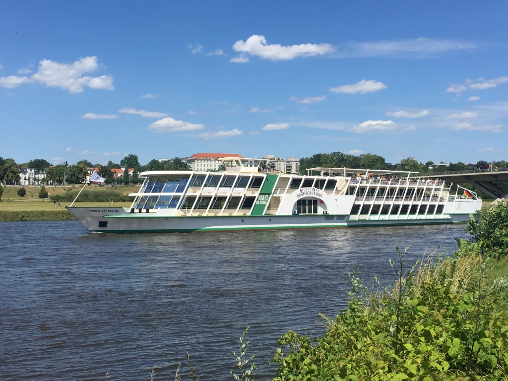 Dampfschiff auf der Elbe