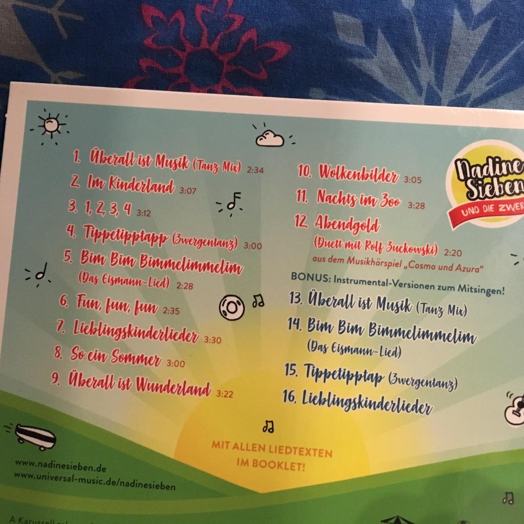 Kinderland Interpreten CD hinten