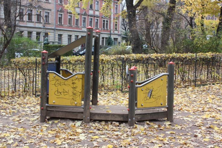 Spielplatz Dresden Bonhoefferplatz Ost Schiff
