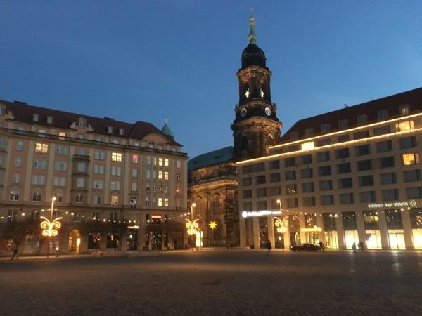 Nacht auf dem Altmarkt in Dresden