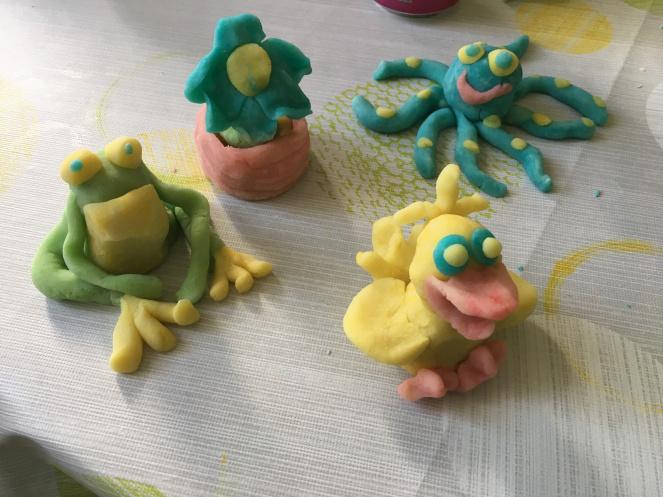 Figuren aus Knete