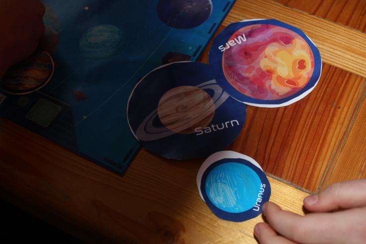 Uranus Saturn und Mars