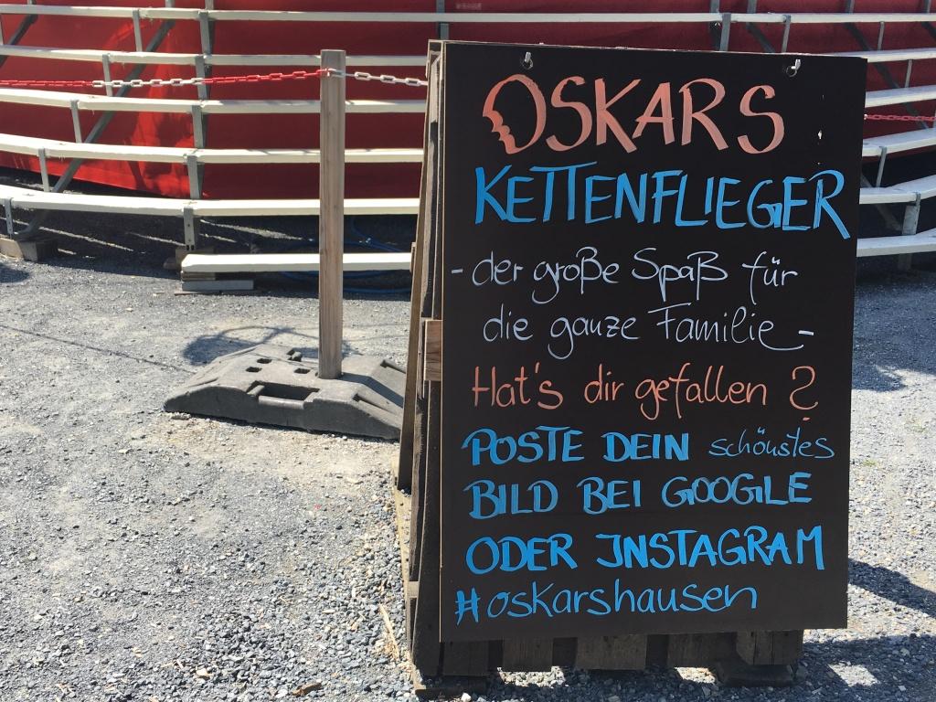 Oskarshausen Kettenkarusell Schild